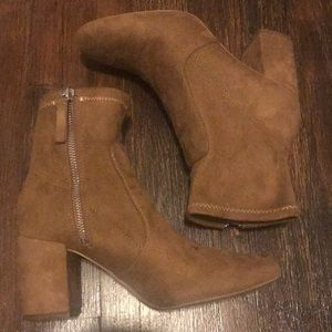 ZARA SUEDE ANKLE BOOTS